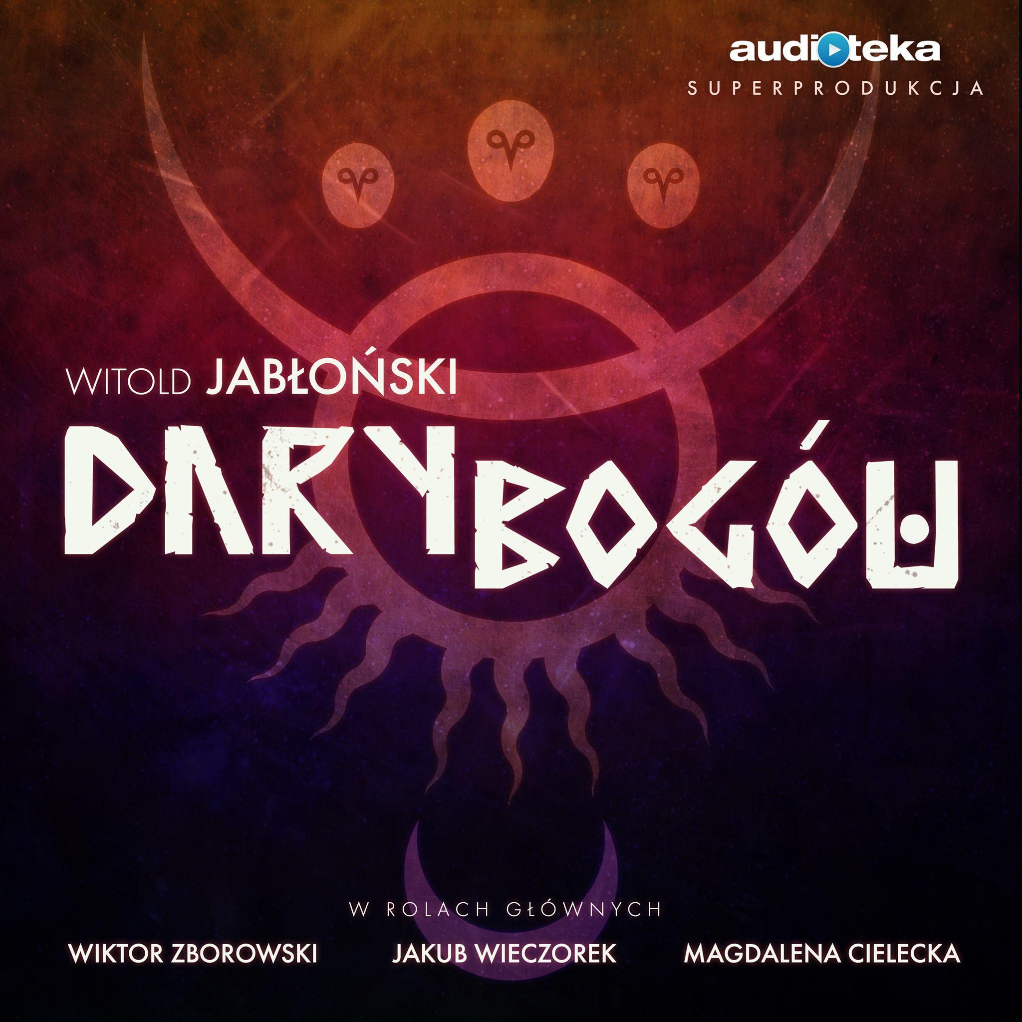 """Okładka audiobooka """"Dary bogów""""."""
