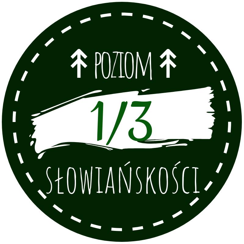 Okrągła grafika - znacznik poziomu słowiańskości - 1/3