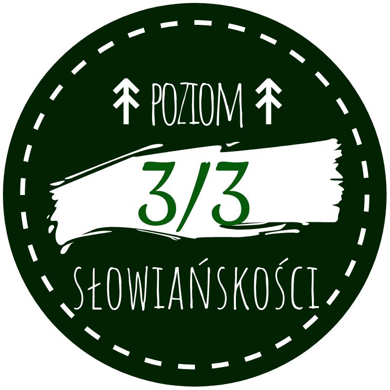 Okrągła grafika - znacznik poziomu słowiańskości - 3/3