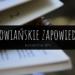 """Szyszka schowana w ksiażce jak zakładka i napis """"Słowiańskie zapowiedzi. kwiecień/maj 2019"""""""